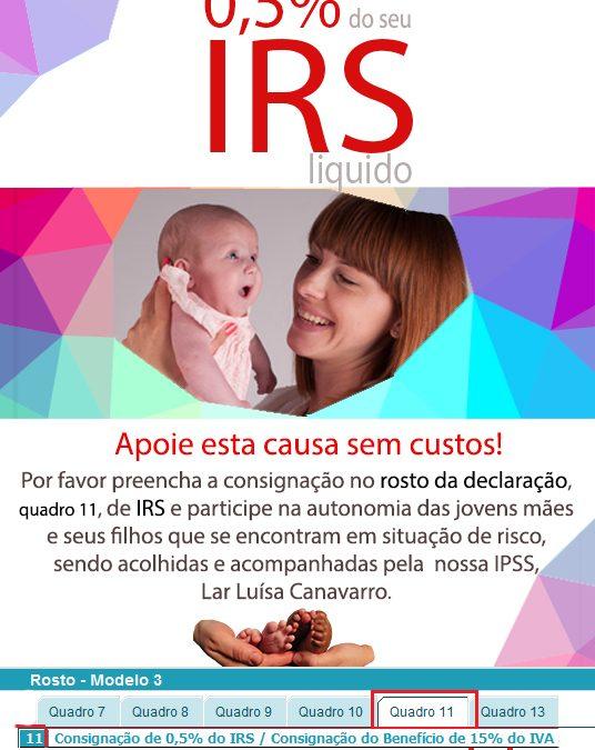 Apoie através da Consignação de IRS